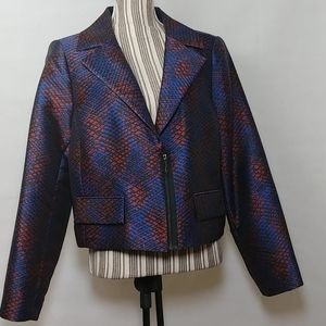 Doncaster Multicolor Quarter Zip Cropped Blazer 14